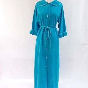 Vintage Blue Misses Robe JCPenny 70's Size 12